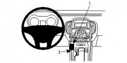 Fixation voiture Proclip  Brodit Buick LaCrosse Réf 854406