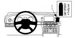Fixation voiture Proclip  Brodit Audi A6 Réf 854430