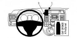 Fixation voiture Proclip  Brodit Volkswagen Caravelle  PAS pour les modèles avec compartiment de rangement avec couvercle. Réf 854432