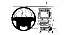 Fixation voiture Proclip  Brodit Toyota LandCruiser Réf 854444