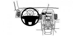 Fixation voiture Proclip  Brodit Kia Sorento Réf 854446