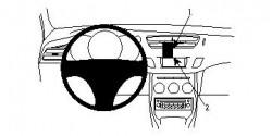 Fixation voiture Proclip Brodit Citroen C3 PAS pour les modèles avec écran de navigation. Réf 854453