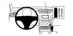 Fixation voiture Proclip Brodit Citroen C3 Réf 854454