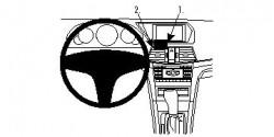 Fixation voiture Proclip  Brodit Mercedes Benz E-Class (200-430) Convertible Réf 854459