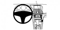 Fixation voiture Proclip  Brodit Mercedes Benz E-Class (200-430) Convertible Réf 854460