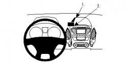 Fixation voiture Proclip  Brodit Hyundai ix35 Réf 854462