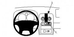 Fixation voiture Proclip  Brodit Mazda Miata Réf 854466