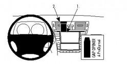 Fixation voiture Proclip  Brodit Lexus LS Series Réf 854497