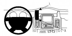 Fixation voiture Proclip  Brodit Nissan Primastar Réf 854517