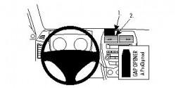Fixation voiture Proclip  Brodit Citroen C4 Aircross Réf 854528