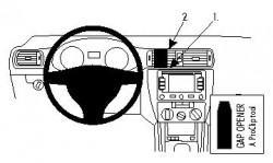 Fixation voiture Volkswagen Jetta. Réf 855306
