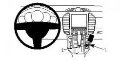 Fixation voiture Proclip  Brodit Porsche Cayenne Réf 854538