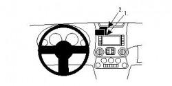 Fixation voiture Proclip  Brodit Jeep Wrangler Réf 854548
