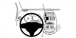 Fixation voiture Proclip  Brodit Chevrolet Spark Réf 854555
