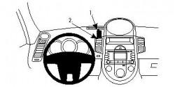 Fixation voiture Proclip  Brodit Kia Soul Réf 854561