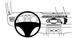 Fixation voiture Proclip  Brodit Alfa Romeo Giulietta Réf 854585