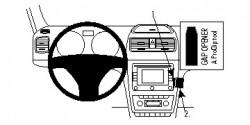 Fixation voiture Proclip  Brodit Skoda Yeti  SEULEMENT pour les modèles avec Amundsen stéréo. Réf 854587