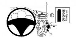 Fixation voiture Proclip  Brodit Pontiac Vibe  SEULEMENT pour les modèles avec changement de vitesse manuel. Réf 854594