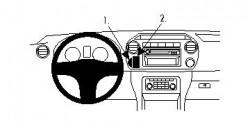 Fixation voiture Proclip  Brodit Volkswagen Amarok  SEULEMENT pour les modèles avec VW points de montage d'utilisation multiples équipés. PAS pour les appareils GPS. Réf 854601