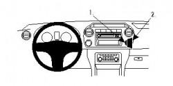 Fixation voiture Proclip  Brodit Volkswagen Amarok  SEULEMENT pour les modèles avec VW points de montage d'utilisation multiples équipés. Réf 854602