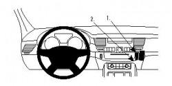 Fixation voiture Proclip  Brodit Audi A8 Réf 854606