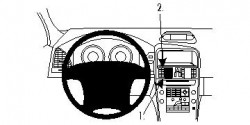 Fixation voiture Proclip  Brodit Volvo XC60 Réf 854611