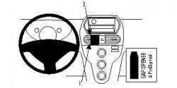 Fixation voiture Proclip  Brodit Citroen C-Zero Réf 854628