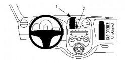 Fixation voiture Proclip  Brodit Nissan Micra  PAS pour les modèles avec option GPS d'origine. Réf 854629