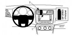 Fixation voiture Proclip  Brodit Chrysler 200  SEULEMENT pour les modèles avec inclinaison vers le bas de l'écran d'informations. Réf 854645
