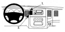 Fixation voiture Proclip  Brodit Dodge Ram Pick Up 1500  SEULEMENT pour les appareils positionnés verticalement. Réf 854653