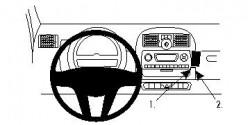 Fixation voiture Proclip  Brodit Smart ForTwo  PAS pour les modèles avec option GPS d'origine. Réf 854669