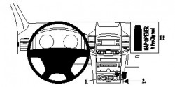 Fixation voiture Proclip  Brodit Chevrolet Captiva Réf 854678