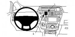 Fixation voiture Proclip  Brodit Toyota Prius + Réf 854713
