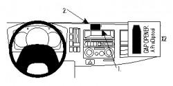 Fixation voiture Proclip  Brodit Chevrolet W-series Réf 854717