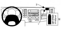 Fixation voiture Proclip  Brodit Chevrolet W-series Réf 854718
