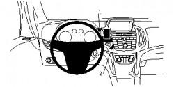 Fixation voiture Proclip  Brodit Opel Zafira C Réf 854733