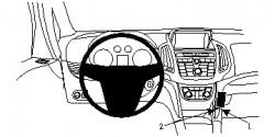 Fixation voiture Proclip  Brodit Opel Zafira C Réf 854734