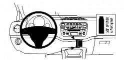 Fixation voiture Proclip  Brodit Seat Mii  PAS pour Seat Mii Entrée. PAS Skoda Citigo pour active et de l'Arctique. PAS pour Volkswagen Ramasser. Réf 854737