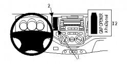 Fixation voiture Proclip  Brodit Toyota HiLux Réf 854742