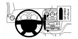 Fixation voiture Proclip  Brodit Ford Transit Connect  SEULEMENT pour les modèles avec port USB. Réf 854743