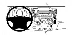 Fixation voiture Proclip  Brodit Toyota HiLux Réf 854746