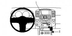 Fixation voiture Proclip  Brodit Nissan Pathfinder Réf 854754