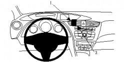 Fixation voiture Proclip  Brodit Honda Civic Réf 854757