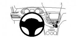 Fixation voiture Proclip  Brodit Peugeot 2008 Réf 854764