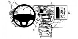 Fixation voiture Proclip  Brodit Kia cee'd Réf 854766
