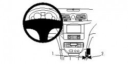 Fixation voiture Proclip  Brodit Maserati Grand Turismo S Réf 854768