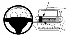 Fixation voiture Proclip  Brodit BMW 6-series F12, F13 Réf 854781
