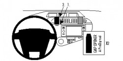 Fixation voiture Proclip  Brodit Toyota Prius c Réf 854784