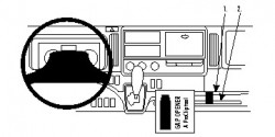 Fixation voiture Proclip  Brodit Fuso Canter Réf 854789