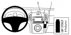 Fixation voiture Proclip  Brodit Isuzu D-Max Réf 854799